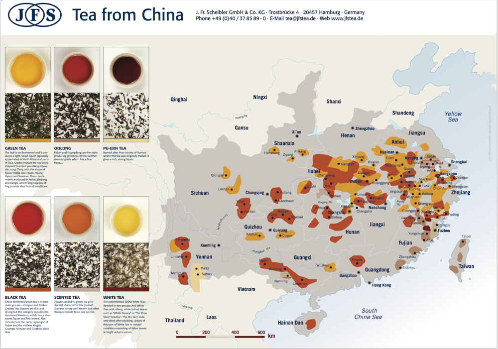 China tea map